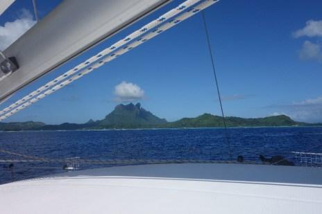 Arriving in Bora Bora, French Polynesia