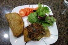 Home-made black bean burger