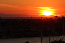 Sunset over Newport Beach