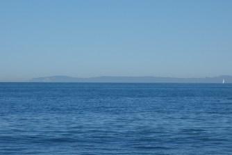 Catalina Island on the horizon