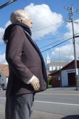 "Alfred looking at ""his"" church"