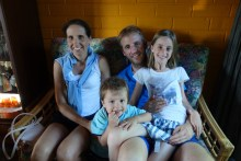 My brother Robin and his family: wife Tessa and kids Lena and Lenn