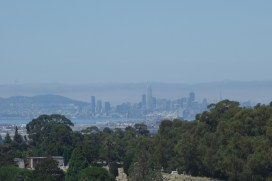 San Francisco in the haze, seen from Mountain View Cemetery