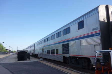 The Texas Eagle in one of the stations