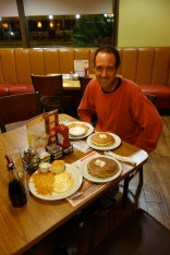 Hearty breakfast at Denny's at 6am