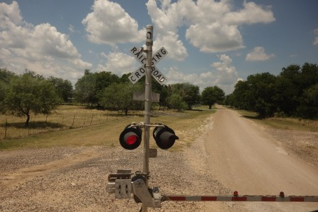 Broken down on a railroad crossing
