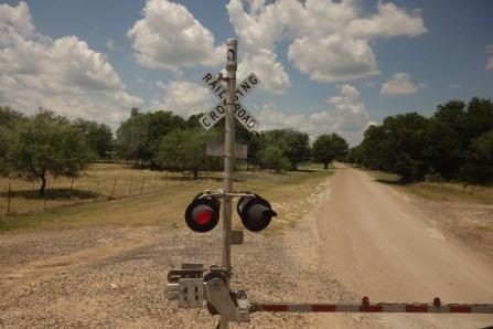 Broken down on a railroad crossing