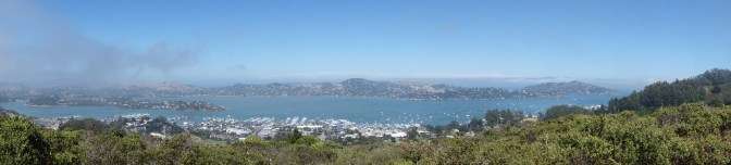View over Sausalito and part of San Francisco Bay