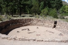 Big kiva ruins (communal meeting place that used to have a roof)