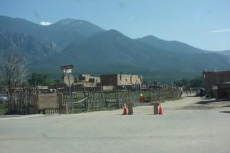 Glimpse of Taos Pueblo