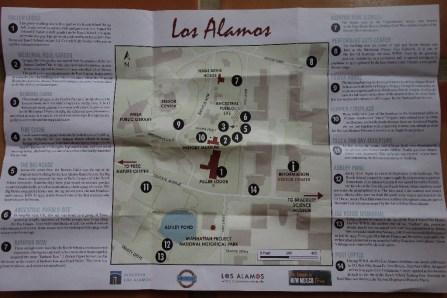 Sites around Los Alamos town