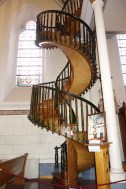 In 1873, a miraculous carpenter - never charging a dime - built this miraculous staircase without supports