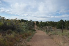 The Rail Trail runs from here (Rollinsville) to downtown Santa Fe, 10 miles way