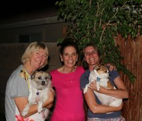 Kathy, Donna, Liesbet and dogs Kloe and her friend - photo courtesy Thom Gottberg
