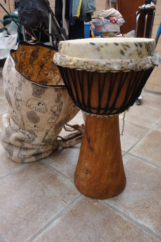 Selling my precious djembe from the Gambia