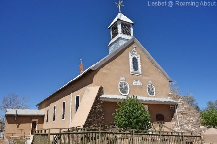 Mark and I passed by Galisteo - and its cute church - to cut off part of the trail and pick it up closer to home