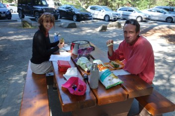 Picnic lunch with Rachel on the way to Whistler