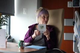 "Carol receiving ""get well"" cards"