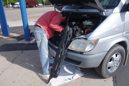 Taking the engine apart...