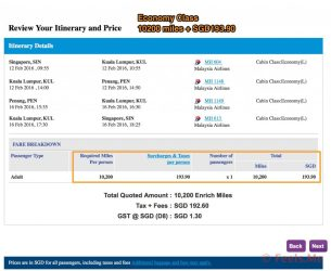 Economy Redemption : SIN-PNG Roundtrip.