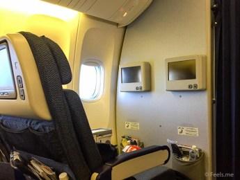 ANA: SIN NRT Premium Ecnonomy Bulkhead seat view