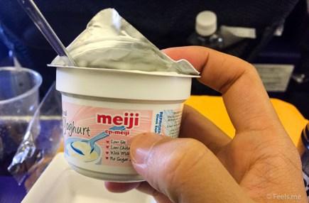 ANA: SIN NRT Premium Ecnonomy Meiji Yogurt