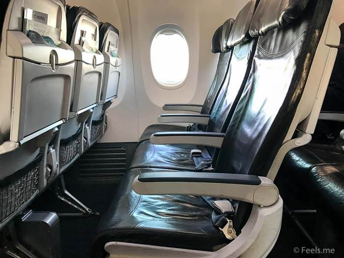 AS SEA SFO Economy Class Seating on a Boeing 737 800