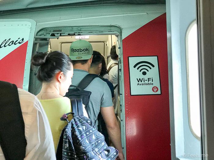 Air Asia SIN BKI Review Boarding
