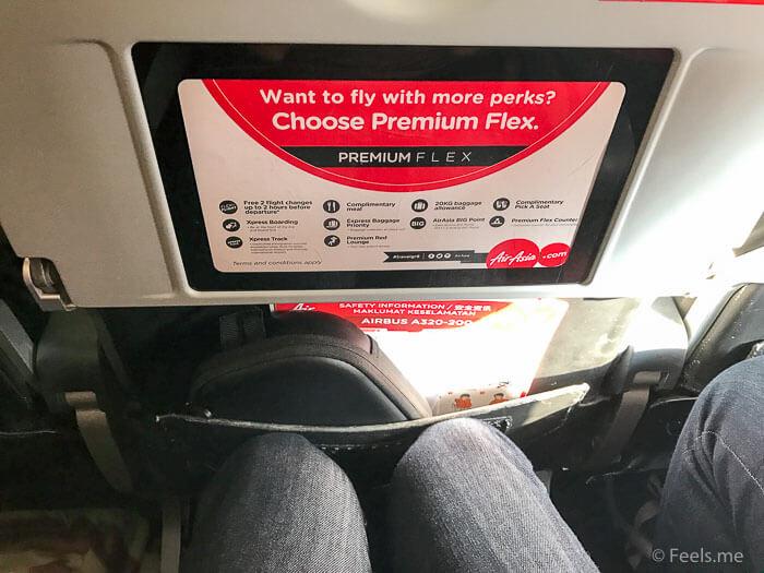 Air Asia SIN BKI Review Legroom