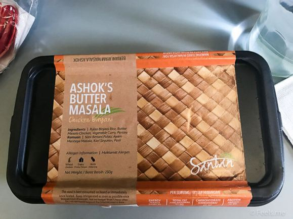 Air Asia SIN BKI Review Butter Masala Chicken Briyani