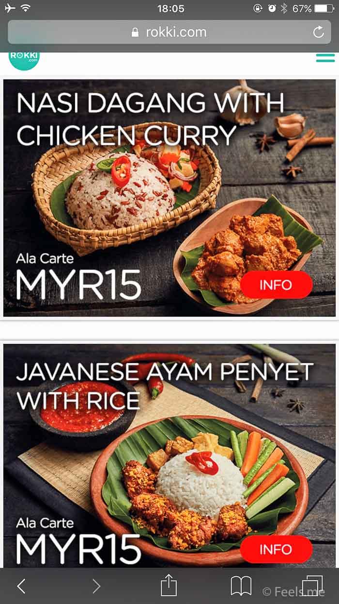 Air Asia SIN BKI Review Food selection