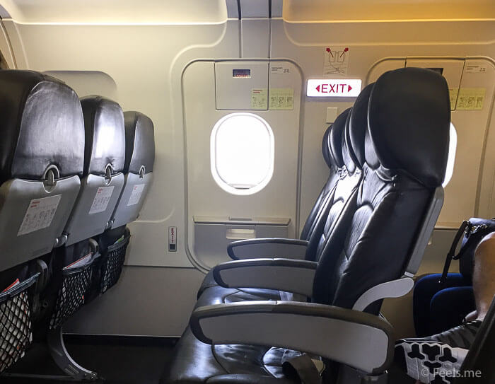 Jetstar 3K 533 Budget Airline Emergency exit seats legroom