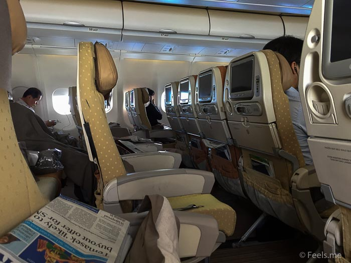 SQ SIN CAN Economy Class View from my seat