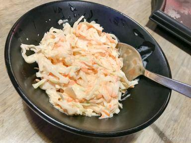 Two Wings' Salted Egg Yolk Fried Chicken Coleslaw