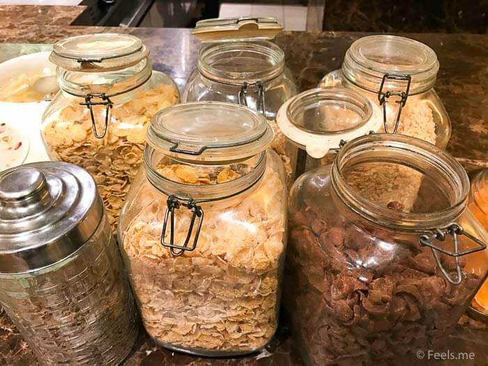 Hyatt Regency Kinabalu Breakfast Lots of cereals