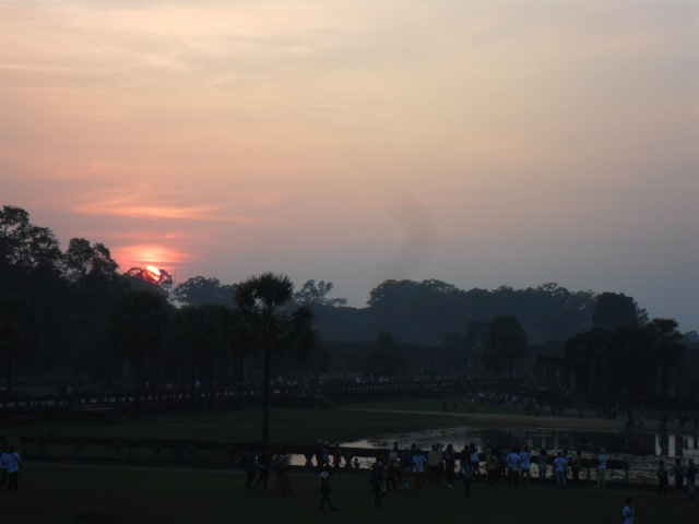 Sunset @ Angkor Wat in Cambodia