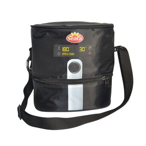 foto frontal de bolsa térmica personalizada para agência