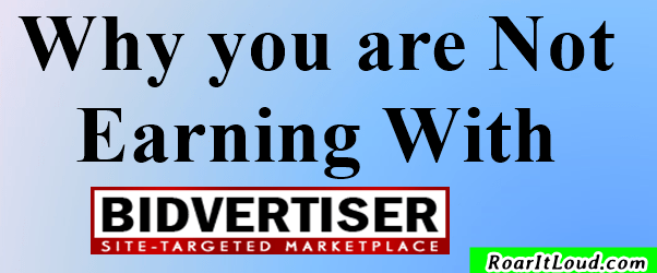 Why you are Not Earning With Bidvertiser - Adsense Alternatives
