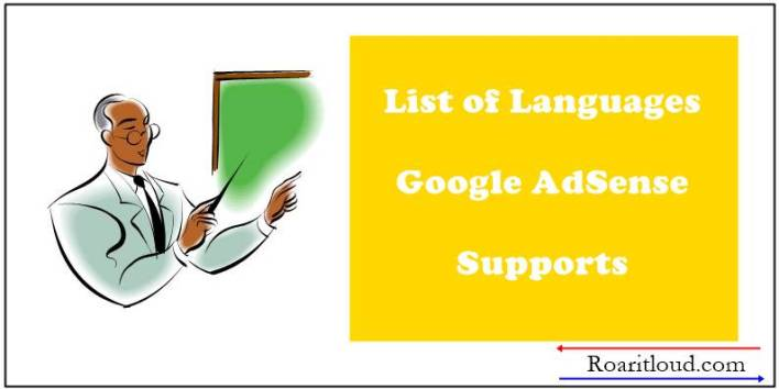 List of Languages AdSense Supports