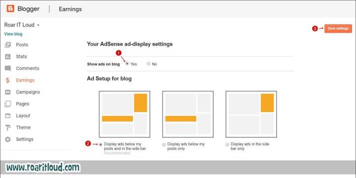 AdSense Ad display setting How to apply for Google AdSense from Blogger