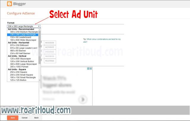 create and put adsense ad for blogger earn money with adsense