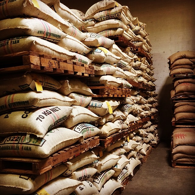 Green coffee storage