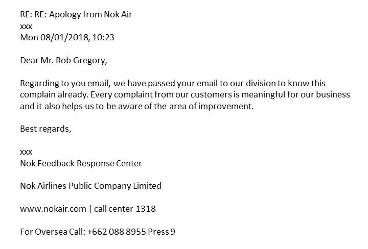 Nok Air - The final communication! Rob Gregory Author