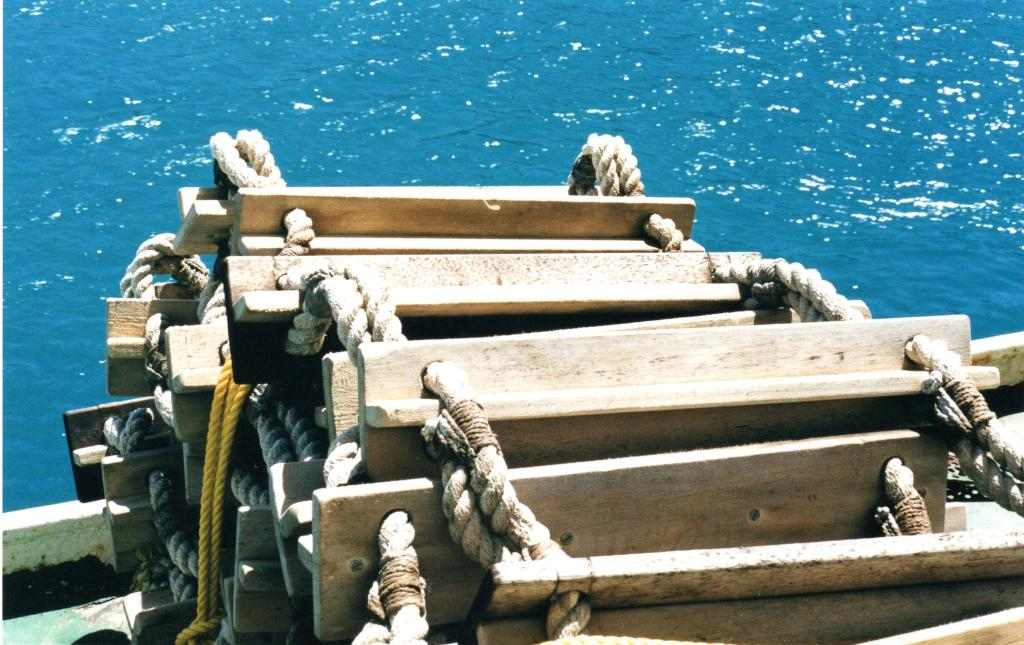 Wood and rope ladder on the Interisland ferry, New Zealand - Rob Gregory Author