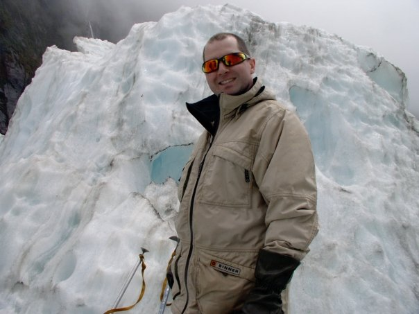 Rob Gregory Author on the Franz Josef glacier, New Zealand