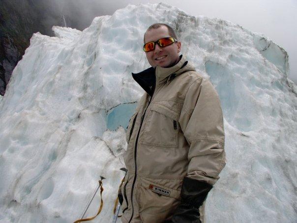 Rob Gregory Author on the Franz Josef glacier, New Zealand
