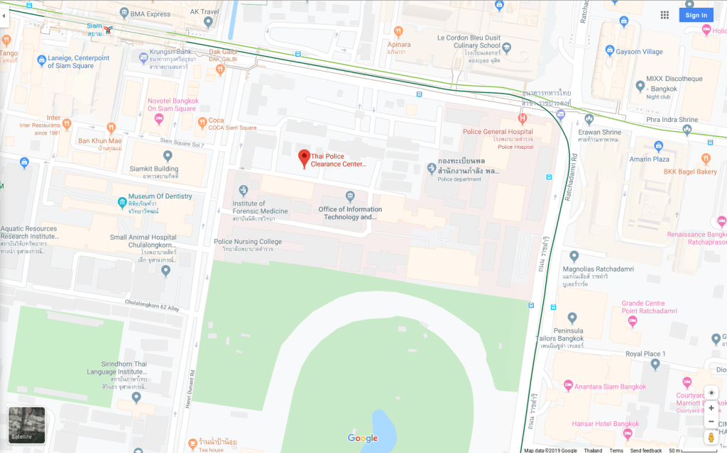 Map of the Royal Thai Police HQ - Rob Gregory Author