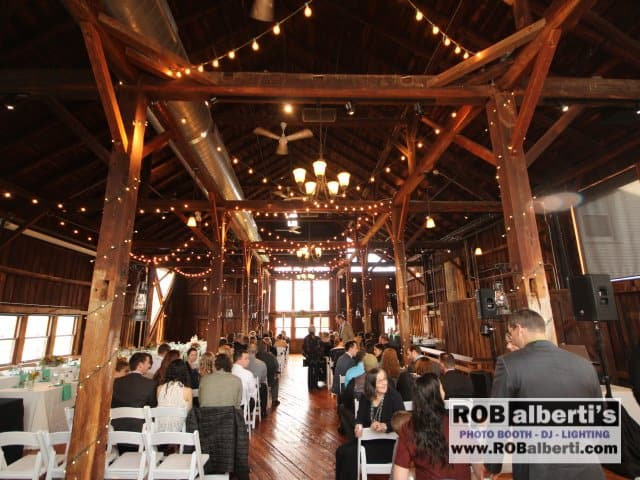 red barn at hampshire college wedding