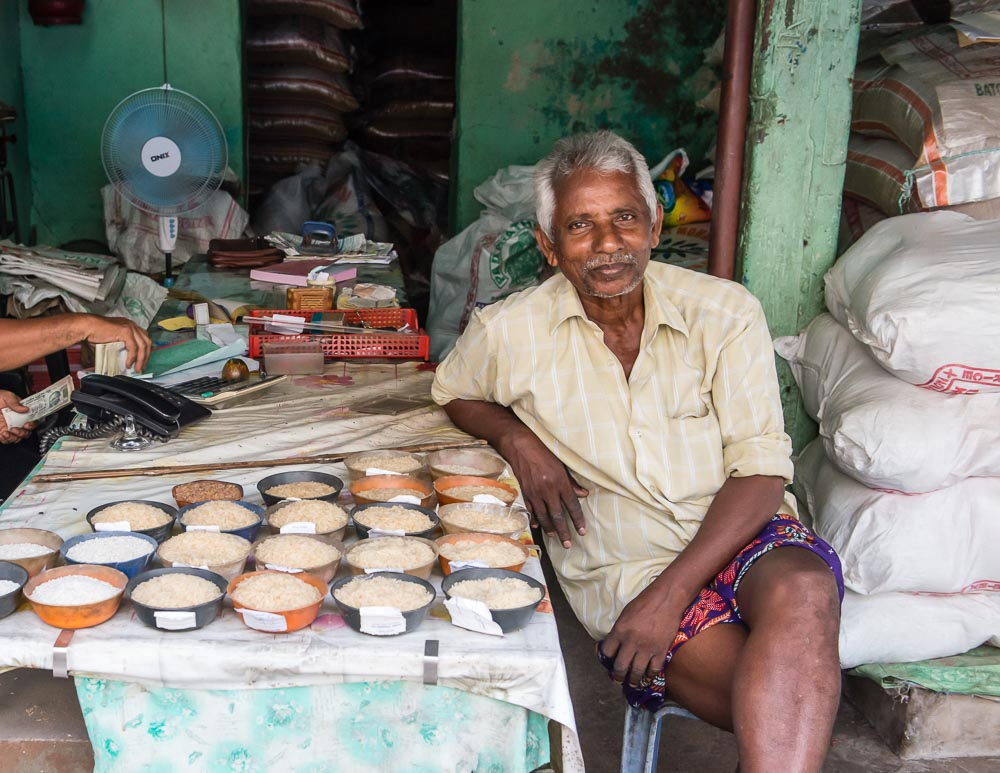 Kerala People Portraits - Rice Seller from Fort Cochin