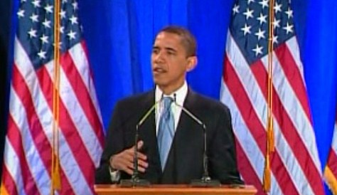 Barack Obama Delivering His Speech on Race